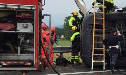 Grave incidente sulla bretella dell'A5 tra Albiano e Borgo d'Ale