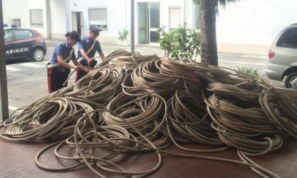 Torino, sequestrati vicino al campo rom 34 quintali di cavi elettrici