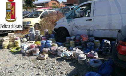 Controllo al campo nomadi: sequestrate oltre due tonnellate di rame
