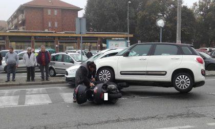 Scontro tra auto e moto a San Mauro: traffico rallentato