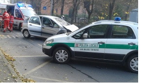 San Mauro, traffico rallentato per un incidente