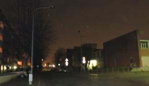 San Mauro, davanti alla scuola Silvio Pellico è tornata la luce stasera