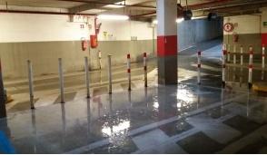 Settimo, piove nel parcheggio sotterraneo di piazza Campidoglio