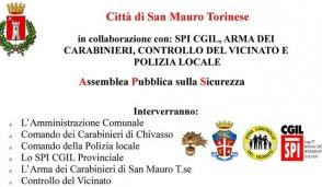 San Mauro, un'assemblea pubblica per parlare di sicurezza