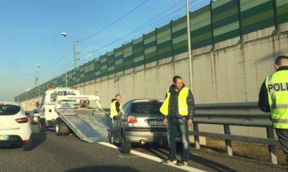 Chivasso centro, incidente all'uscita dell'autostrada: traffico bloccato