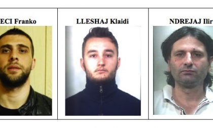 Rubavano nelle vostre case, presa gang degli albanesi