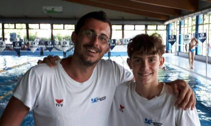 Filippo Merlo in vasca ai Regionali