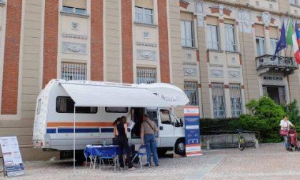 Settimo, il camper del Fisco in piazza della Libertà