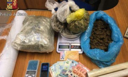 In casa aveva un chilo e trecento grammi di marijuana: arrestato dalla Polizia