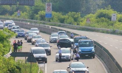 Incidente sulla Sr11, traffico rallentato all'altezza dell'uscita Settimo - Castiglione