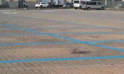 Parcheggio gratuito nelle strisce blu