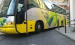 Traffico bloccato bus incastrati