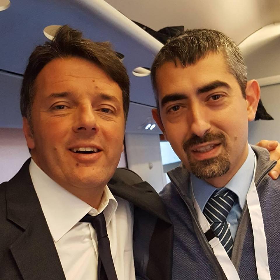 Treno Pd con Renzi c