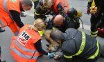 Cane salvato da incendio palazzo LE FOTO