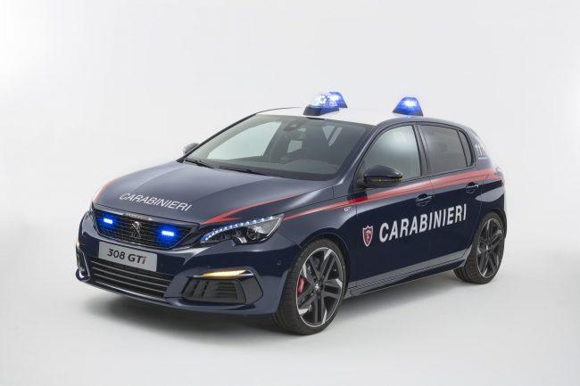 Peugeot 308 GTi, un Leone dedicato ai Carabinieri