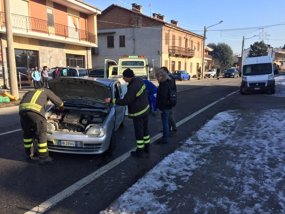 Incidente 590 strada bloccata