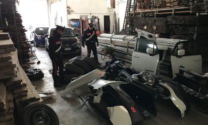 Auto rubate e smontate nel capannone due arresti