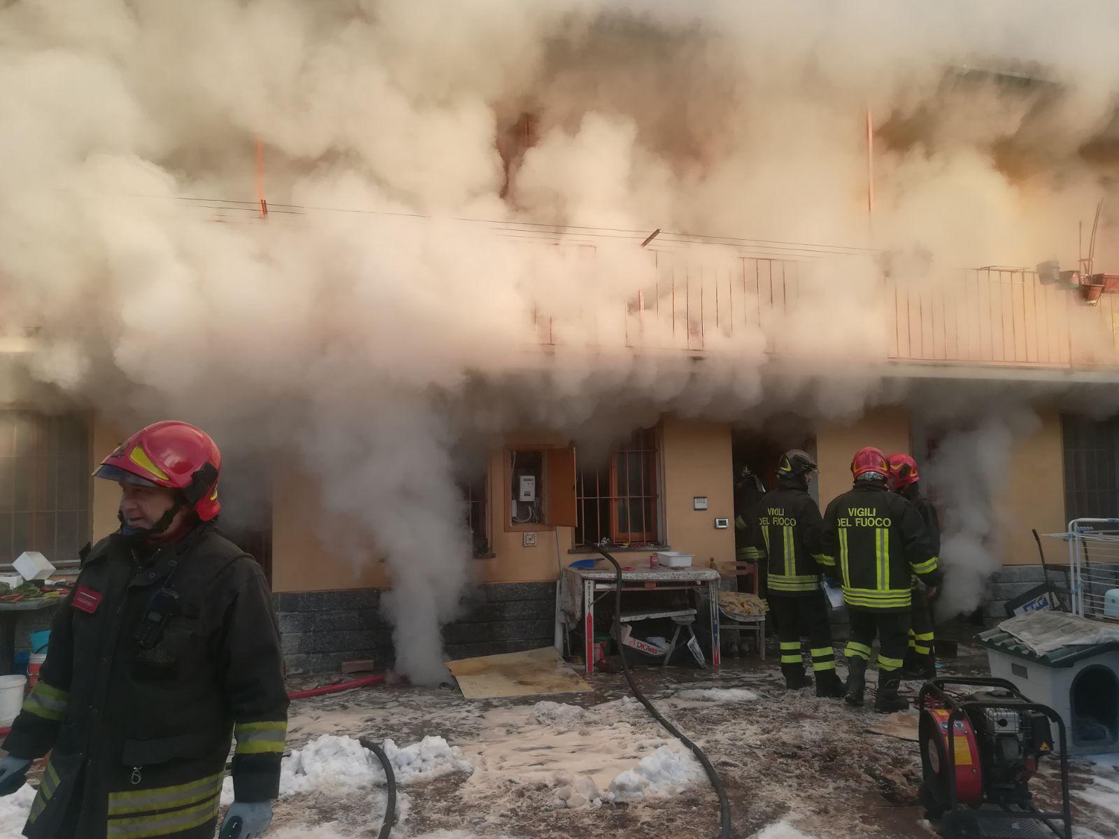 Incendio cascina