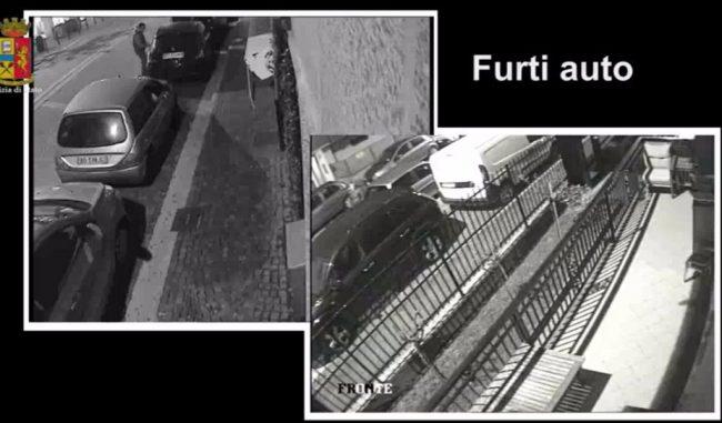 Rubano auto e furgoni sette arrestati IL VIDEO