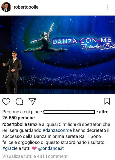 Roberto Bolle étoile anche in tv