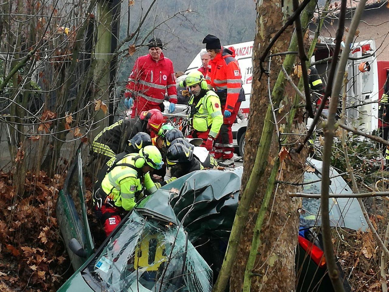 incidente mortale sulla 590