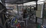 Cicloposteggio riparato dopo le segnalazioni