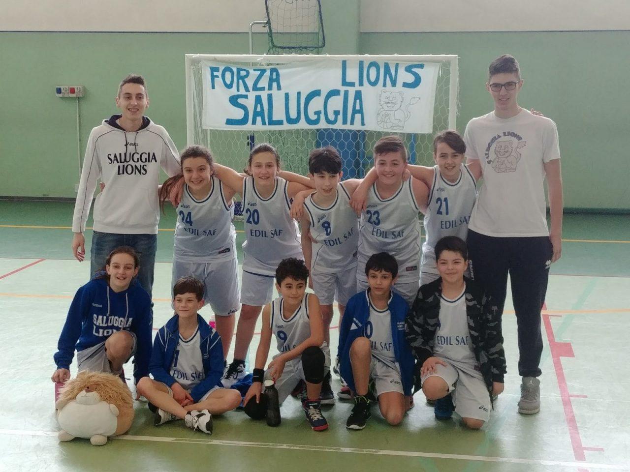 Piccoli campioni minibasket Saluggia