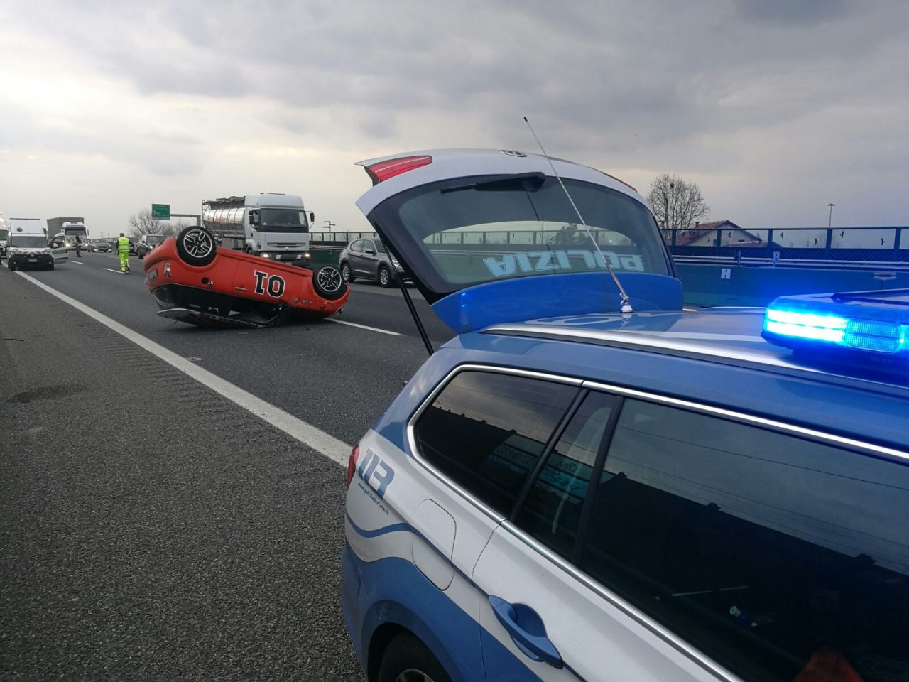 Incidente A4 autostrada riaperta al traffico