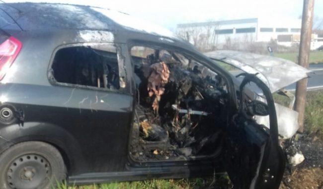 Incidente a Caluso, auto in un fossato. Morto il conducente