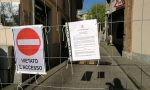 Strada chiusa per il cantiere della fibra