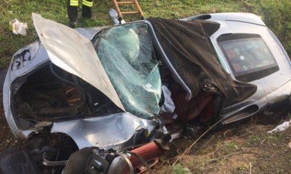 Ferrari distrutta sull'autostrada A4