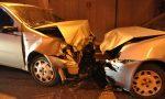 Auto contromano nel sottopassaggio cinque feriti nel frontale