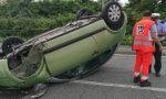Auto ribaltata ferita una ragazza | LE FOTO