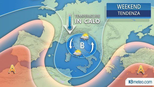 Autunno anticipato nel weekend al Centronord: meno 8 gradi