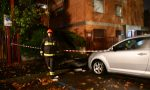 Tromba d'aria sulla città, diverse auto distrutte