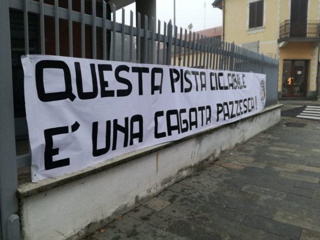 pista ciclabile via Torino Settimo