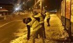 La Salamandra a Settimo: i volontari CasaPound ripuliscono i marciapiedi dalla neve