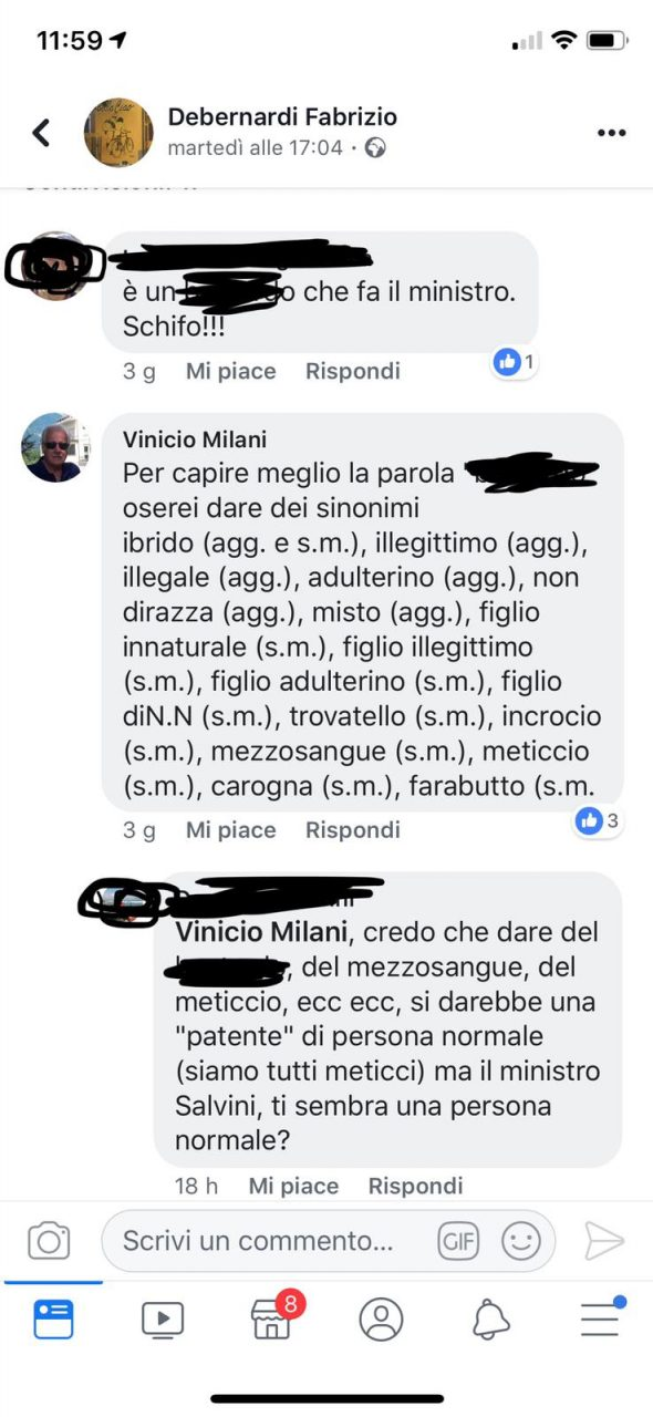 """""""Vogliamo figli italiani. Non quelli che arrivano coi barconi già belli e confezionati"""""""