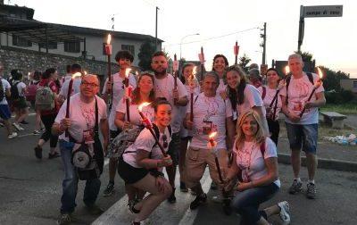I volontari della Croce Rossa alla fiaccolata di Solferino