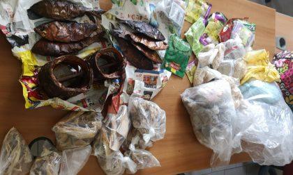 Alimenti mal conservati scoperti al mercato