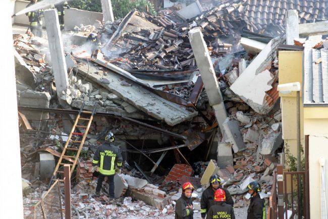 Villetta esplosa in via Leinì, il decimo anniversario FOTO
