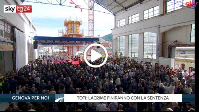 Commemorazione Ponte Morandi a Genova: vertici Autostrade allontanati VIDEO