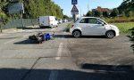 Auto contro moto, incidente all'imbocco della città