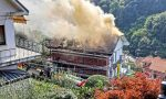 Incendio tetto a San Mauro, sirene e pompieri vicino al centro FOTO E VIDEO