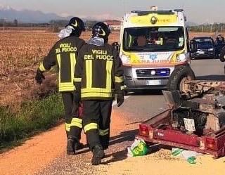 Incidente stradale a Saluggia: due feriti