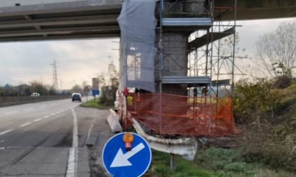 Sulla Sp11 lavori in corso per risanare sovrappassi e sottopassi FOTO