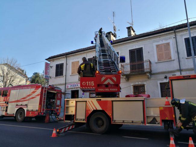 Incendio nella cucina del ristorante cinese di San Mauro LE FOTO