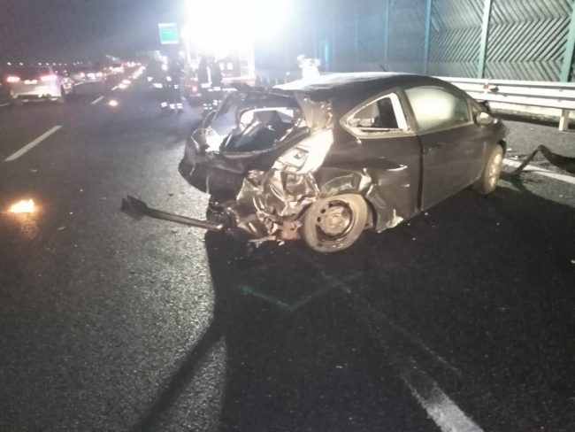 Scontro in autostrada a Chivasso, tre auto coinvolte