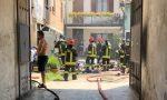Incendio in un garage a Caluso: vigili del fuoco al lavoro LE FOTO