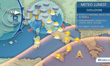 Meteo, da domenica temporali e piogge sul Chivassese